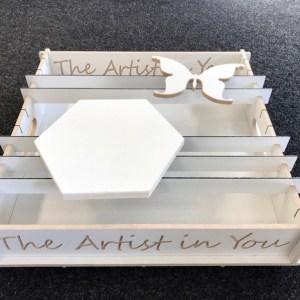acryl en epoxy gietbak bovenkant