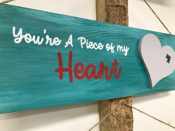 tekstbord met hart love