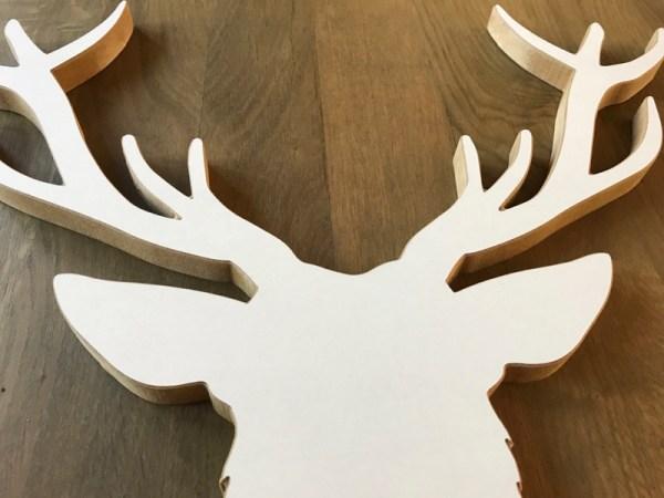 Hert hout detail kop