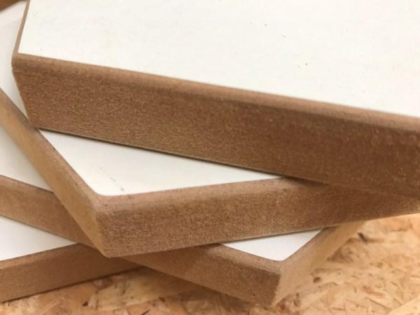 Hexagon hout met afgeronde rand