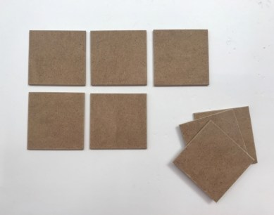 Onderzetters hout hobby materiaal