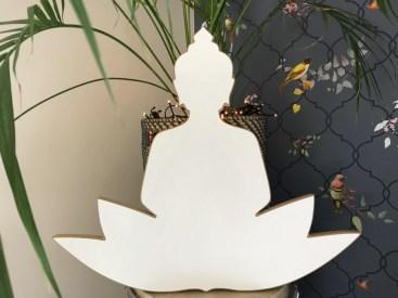 Buddha hout 55 cm