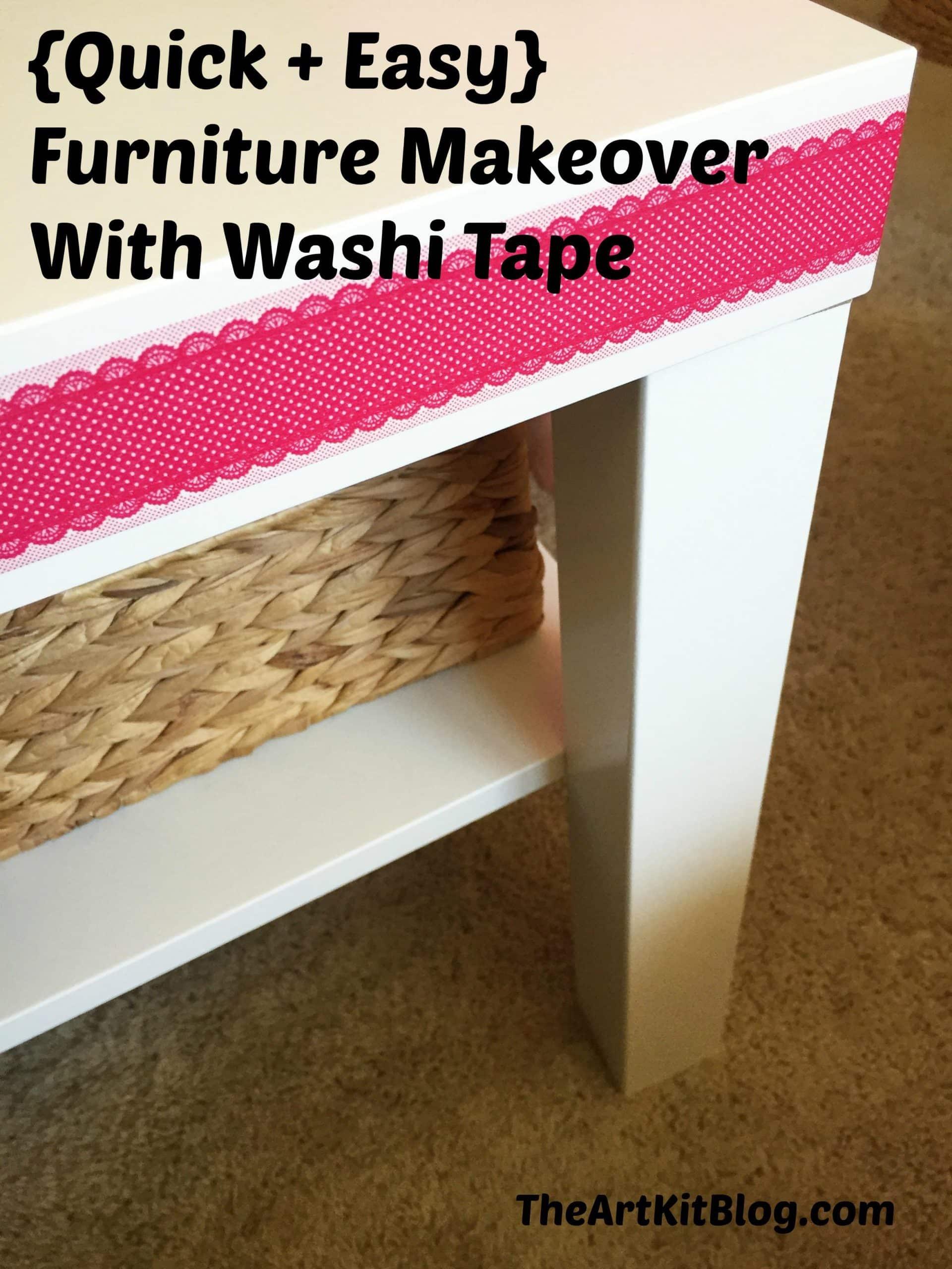 Washi Table Furniture Redecorating