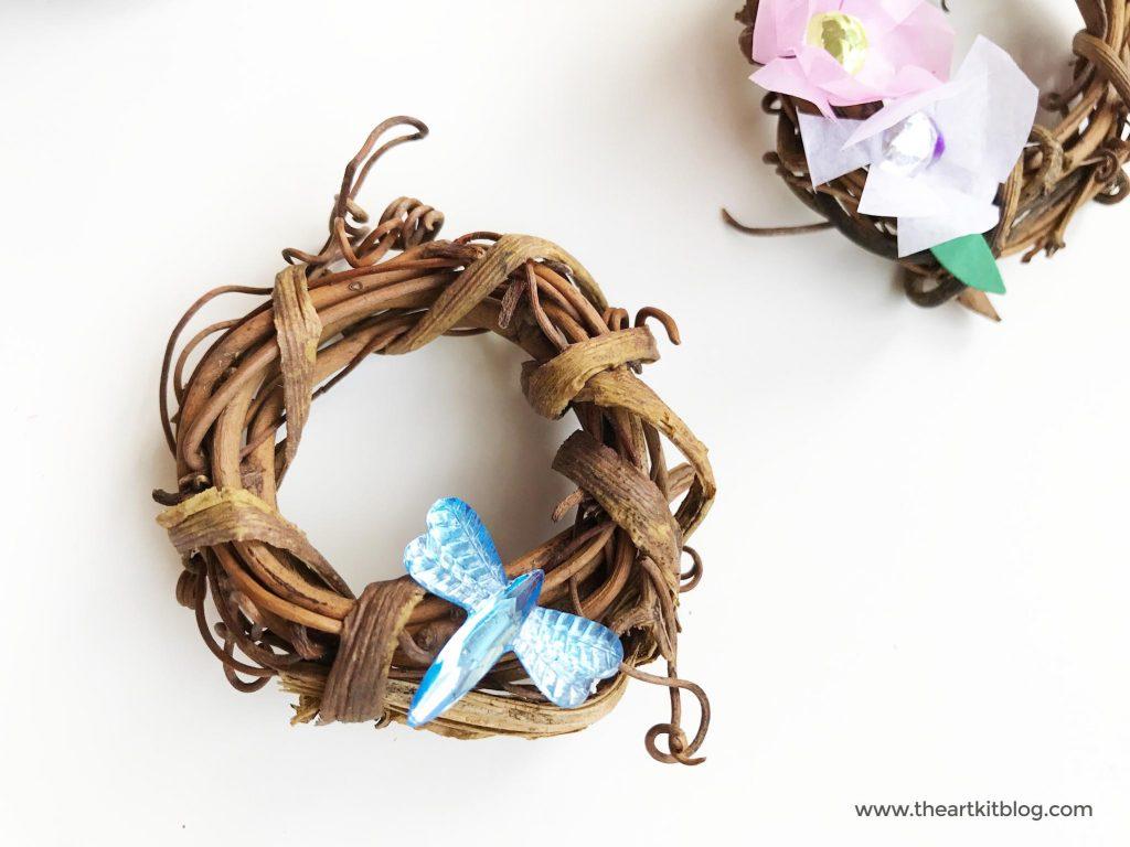 How To Make Mini Flower G Vine Wreaths The Art Kit 5