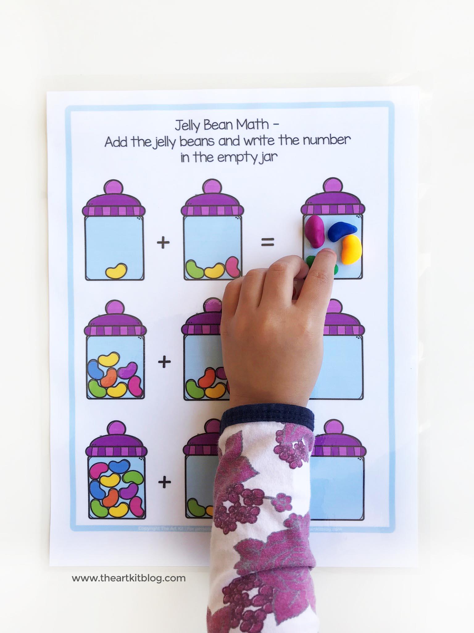 Jelly Bean Math Worksheets 3