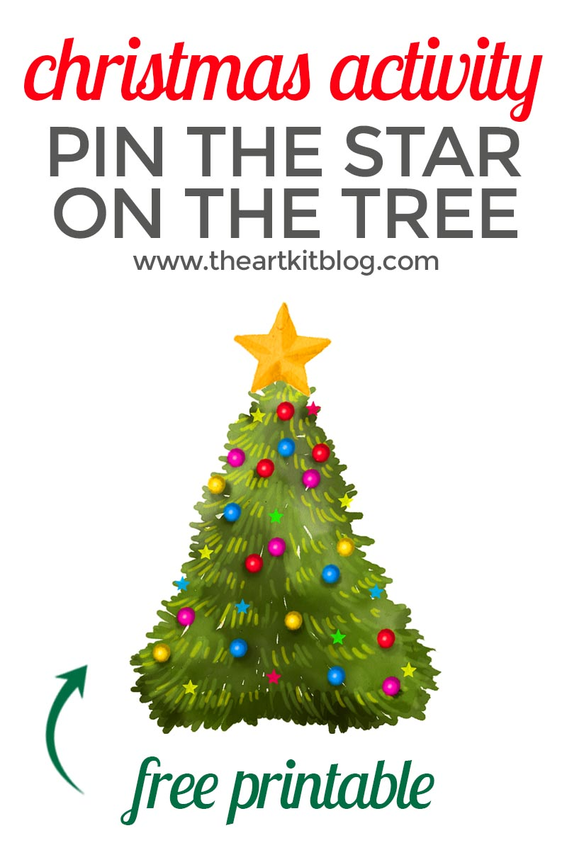 Pin The Star On The Christmas Tree Fun Activity Free Printable The Art Kit