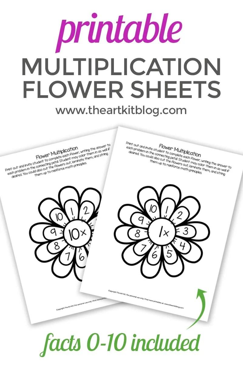 medium resolution of Waldorf Flower Multiplication Worksheets for Kids - Printable Pack - The  Art Kit