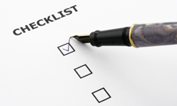 Tryout Checklist
