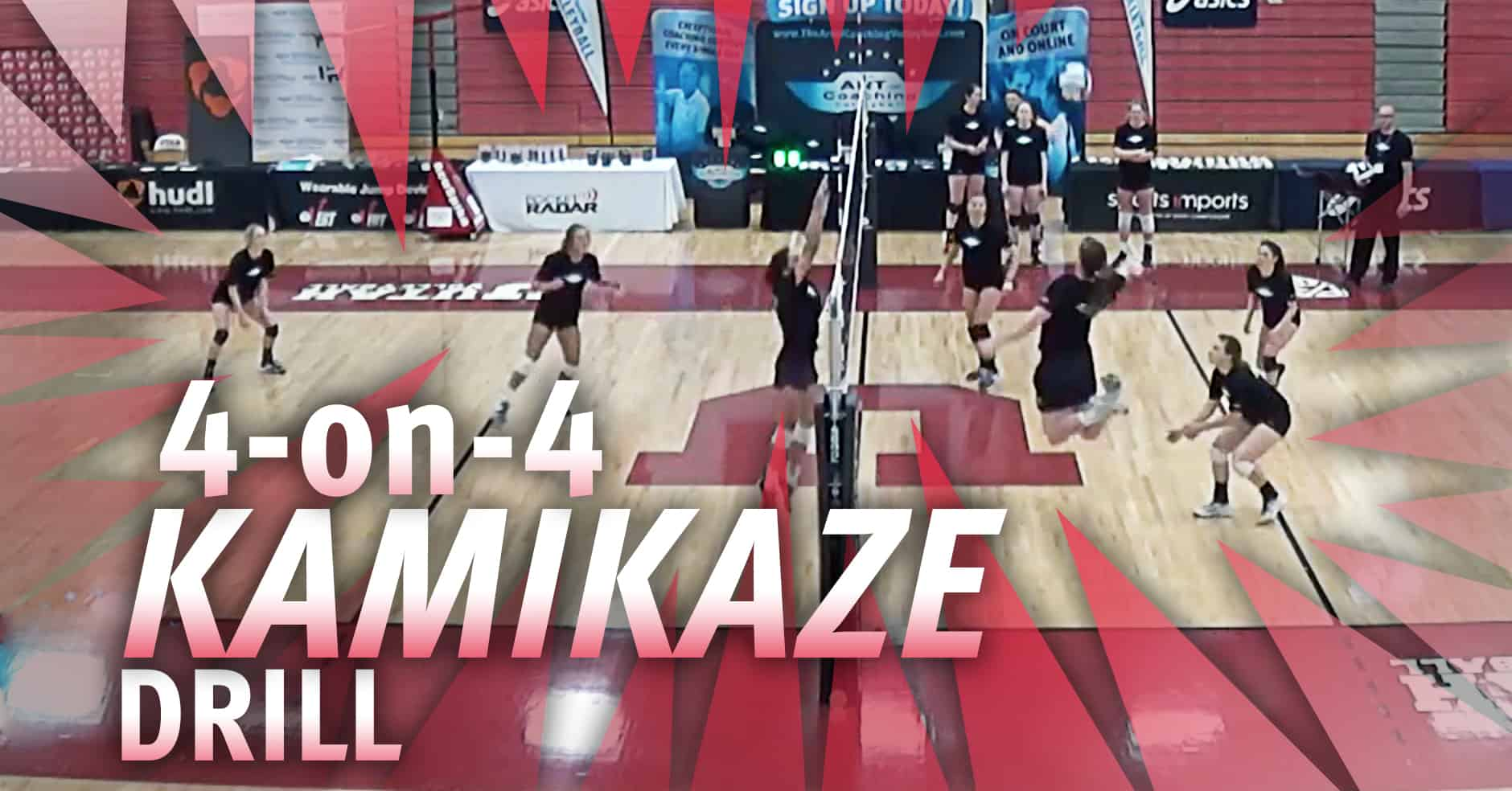 4 On 4 Kamikaze Volleyball Drill With Beth Launiere