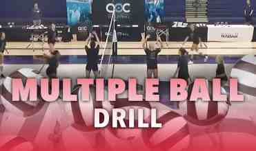 Multiple ball drill with Tod Mattox