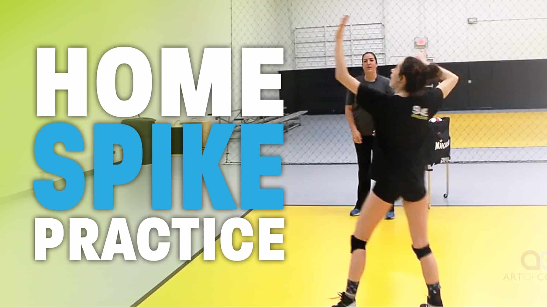 Cary Wallin Home Spiking Practice