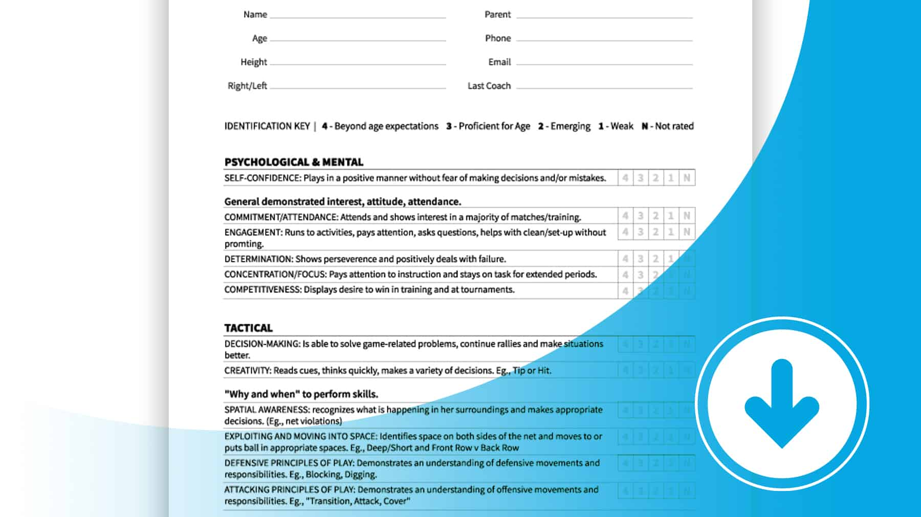 Player Evaluation Form