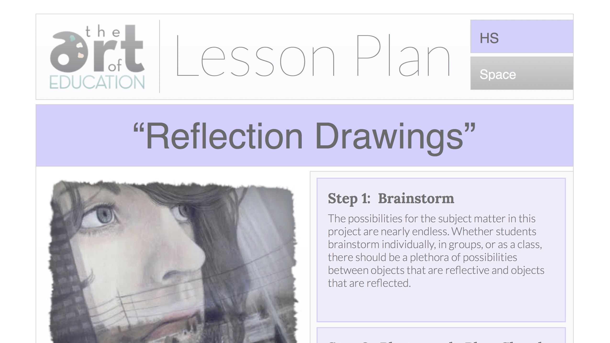 Reflection Drawings Free Lesson Plan Download