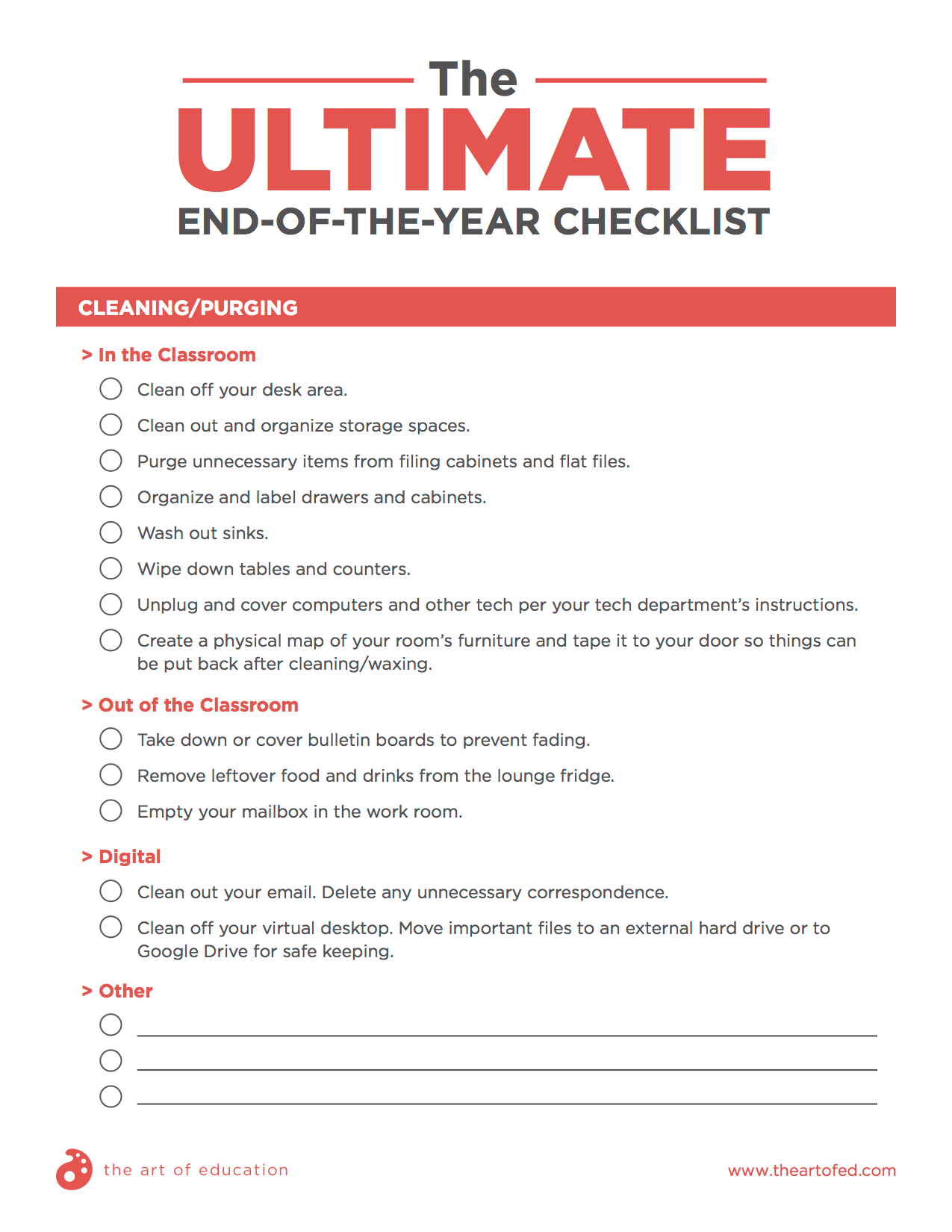 The Art Teacher S Ultimate End Of The Year Checklist