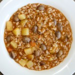 Tuscan Farro and Bean Soup - this iconic Tuscan soup hails from the area of Lucca in Tuscany is hearty, nutritious and so delicious!