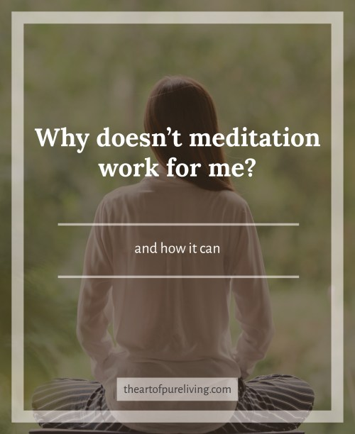 how meditation can work for you