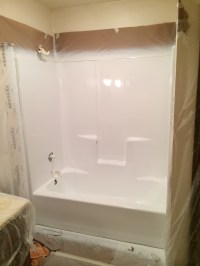 Can You Paint Fiberglass Tub Surround. how we painted our
