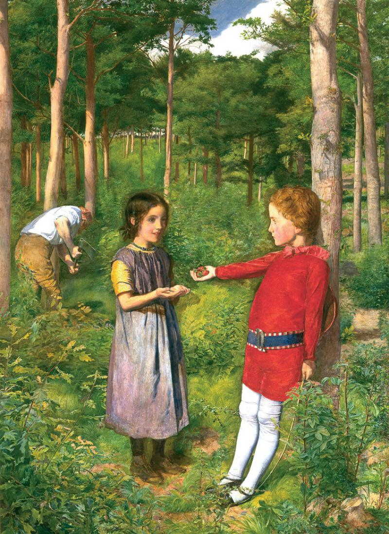 Image result for Millais' The Woodman's Daughter