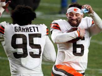 Browns QB Baker Mayfield Reacts to Jadeveon Clowney Signing