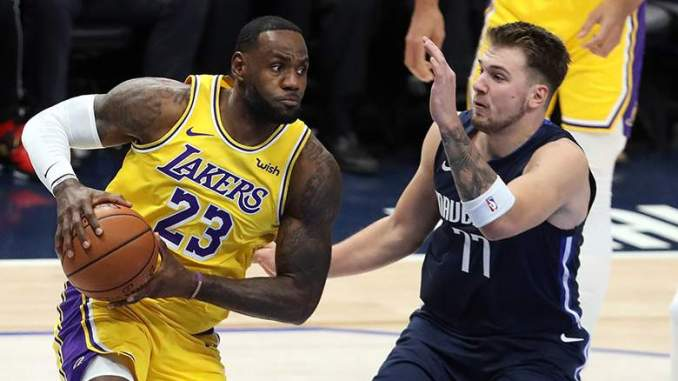 Lakers' LeBron James Sends Message to Luka Doncic After Shot