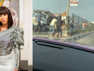 Mercy Eke rushed a girl ran over by a car in a hit-and-run accident to the hospital (video)