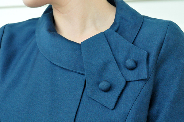 the artyolgist- image of a collar detail from a peggy french couture 1960's swing coat