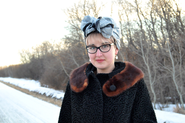 the artyologist- image of vintage astra fur coat and turban