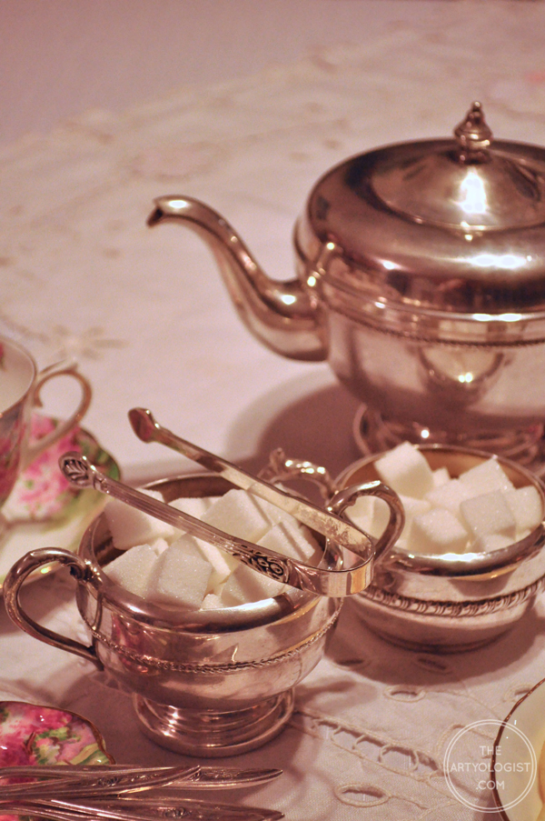 the artyologist- image of antique silver tea service