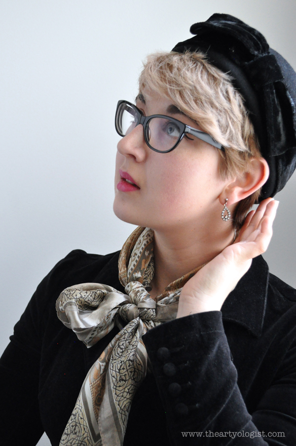 the artyologist image of new vintage wool and hat with velvet bow