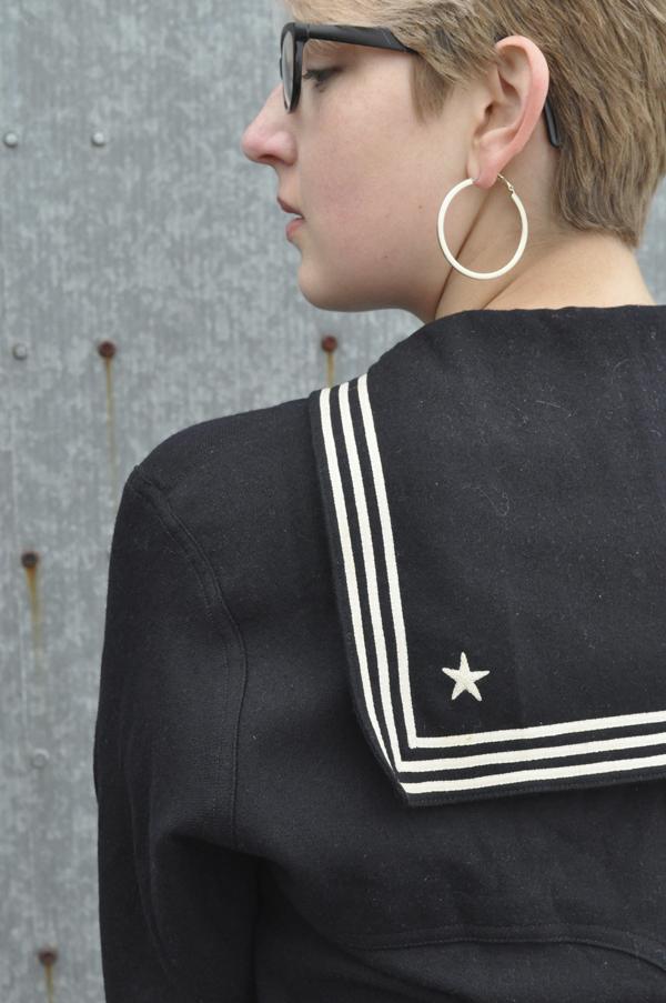the artyolgist- image of vintage WWII US Sailor's uniform detail