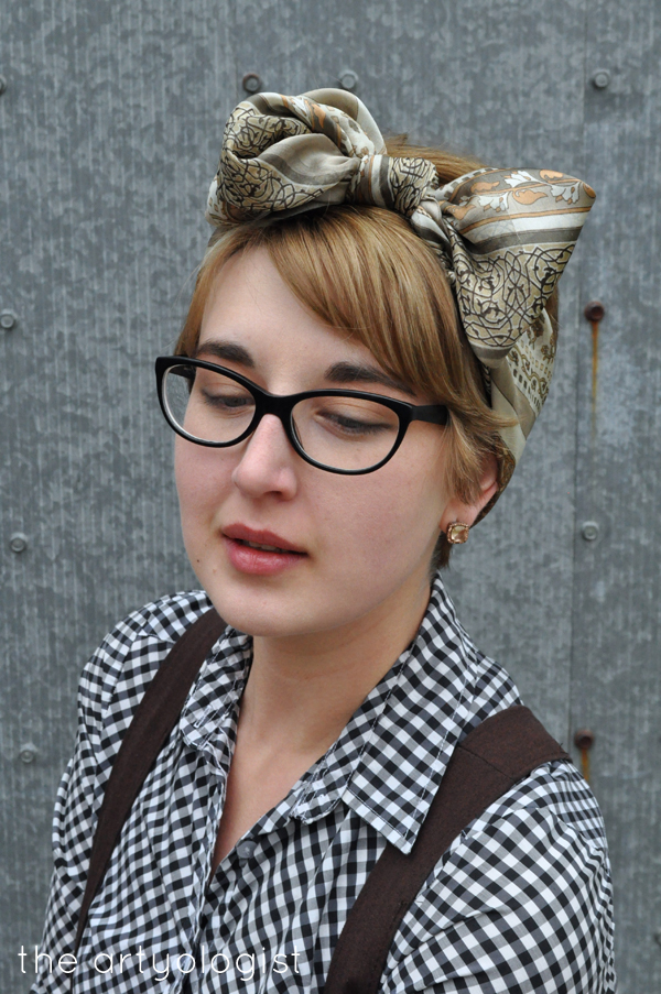 the artyologist- vintage scarf headwrap