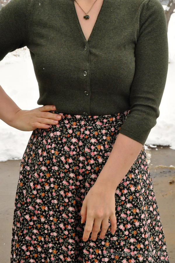 the artyologist: image of spring dressing cardigan and floral skirt