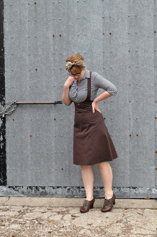 the artyologist image of suspender skirt inspired by 1939 sears catalogue