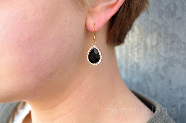 the artyologist- image of sparkly black earring