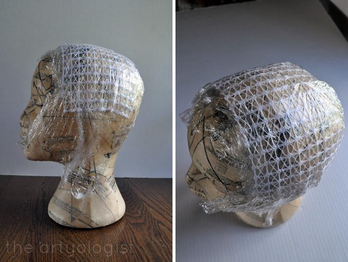 using a foam head as a hat form the artyologist