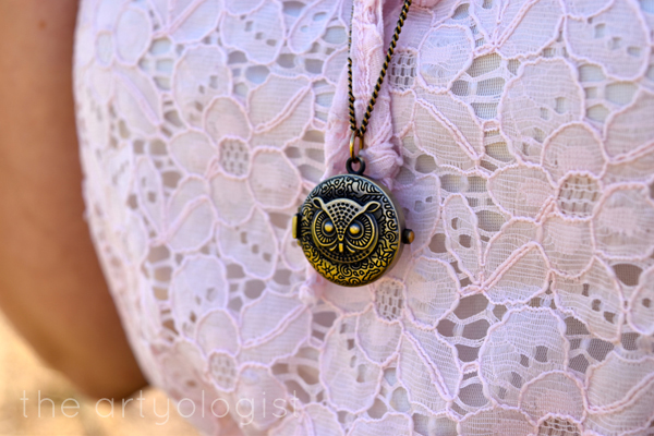 the artyologist image of owl necklace