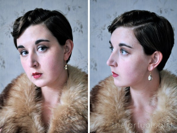 image of 1920's vintage finger waves, the artyologist