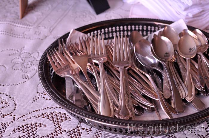 silverware tea party, the artyologist