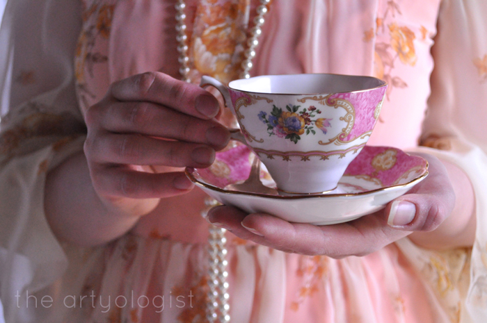 ladies tea party, cup the artyologist