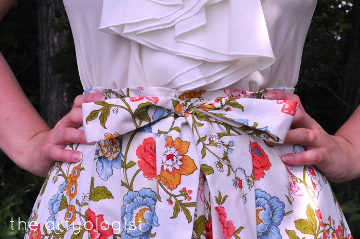 waistband detail the recycled skirt the artyologist