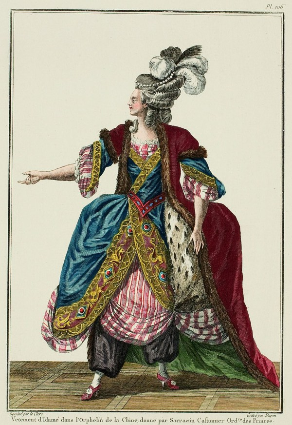 Costume for Idame in the Orphan of China