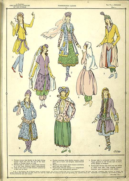 Costume of Persian Women's Fashion
