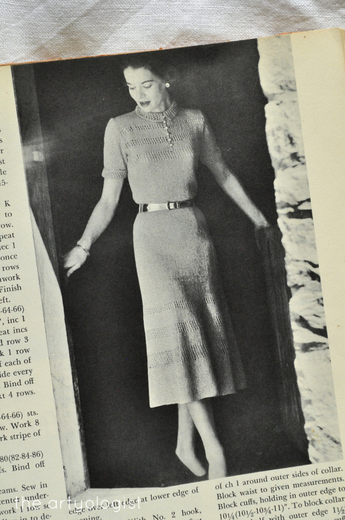 knitted dresses McCall's Treasury of Needlecraft the artyologist