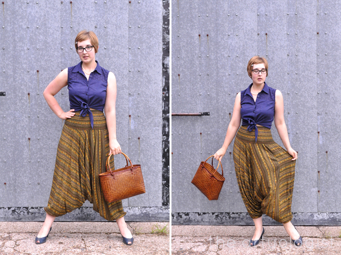 harem pants with tie front shirt the artyologist