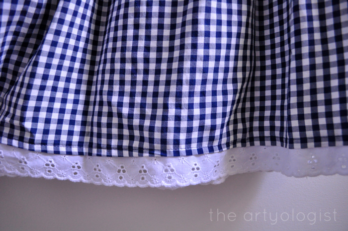 gingham and lace hem the artyologist