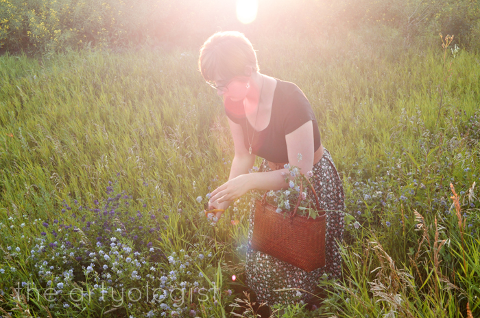 gathering flowers in floral, a summer uniform the artyologist