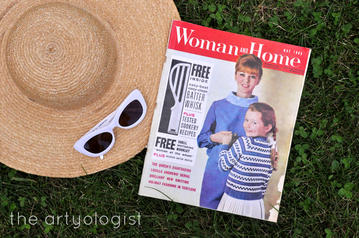 1965 Fashion: Terylene Goes on Holiday, the artyologist, Woman and Home Cover