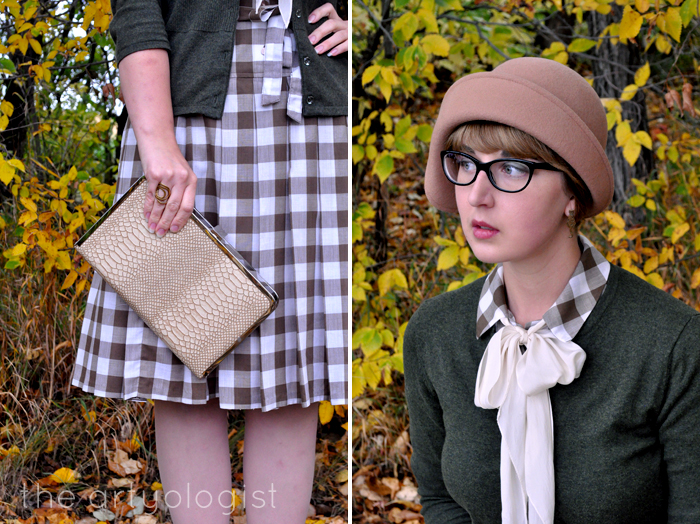 The gingham Dress That Didn't Get Away- the artyologist, vintage modern mix