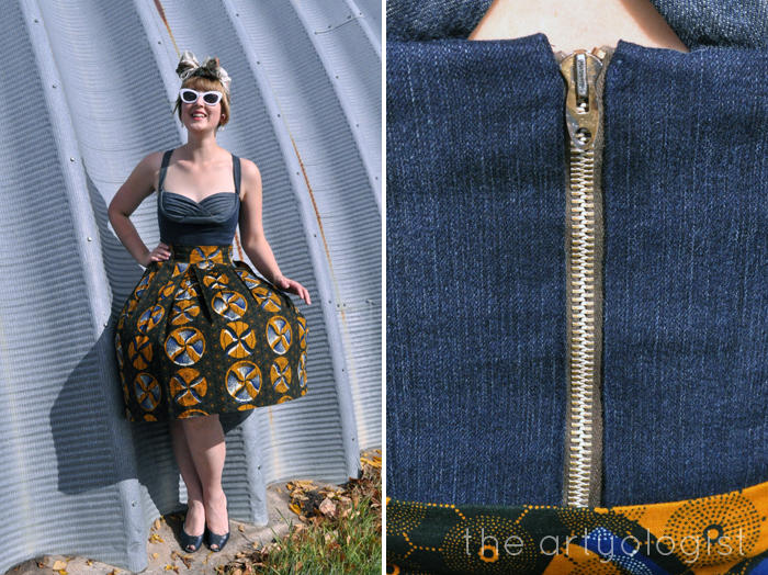 The Big Reveal: The Refashioners 2016 and Gertie's Butterick,zipper detail, the artyologist