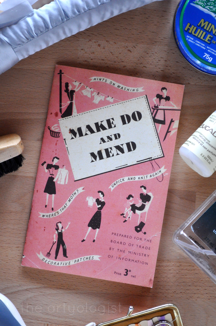 Hints To Help You Make Do and Mend, the artyologist